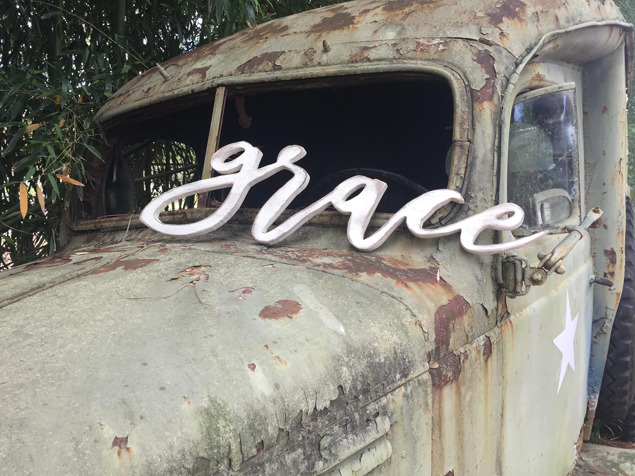 Grace on Truck
