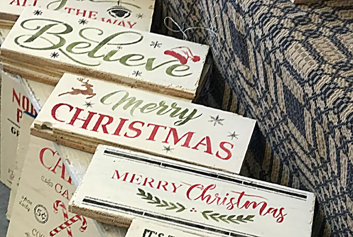 Holiday Wooden Signs